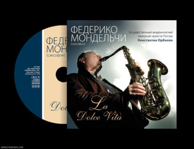 "CD Federico Mondelci ""La Dolce Vita"" (for Delos International, Designer - Sergey Dibtsev, Art Director - Olga Alisova, 2006)"