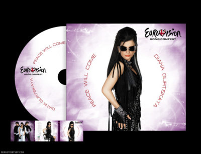"6P Digipack Diana Gurtskaya ""Peace Will Come"" (for Eurovision Song Contest, Photographer - Olga Fomina, Designer - Sergey Dibtsev, Art Director - Olga Alisova, 2008)"