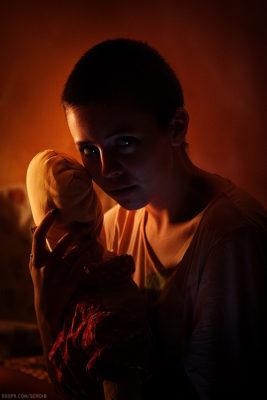 Girl with a Doll #1 (Model - Lolita Romanova)